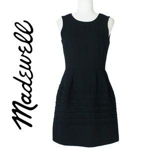 Madewell Black Fit-n-Flare Dress